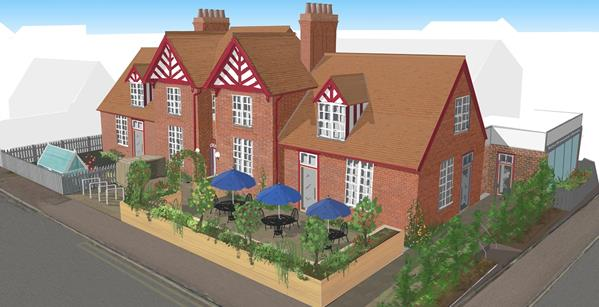 CGI Of Southwold's Old Hospital Hub