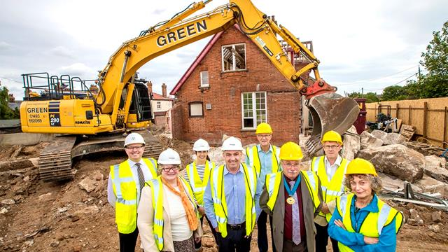 Development Partners Mark The Start Of Construction At Southwold's Old Hospital