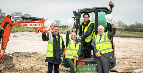Celebrating The Start Of Construction At Pamber Heath