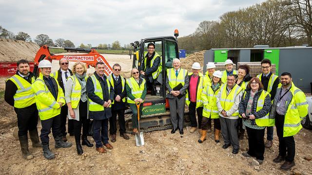 Ground Breaking Ceremony At Pamber Heath